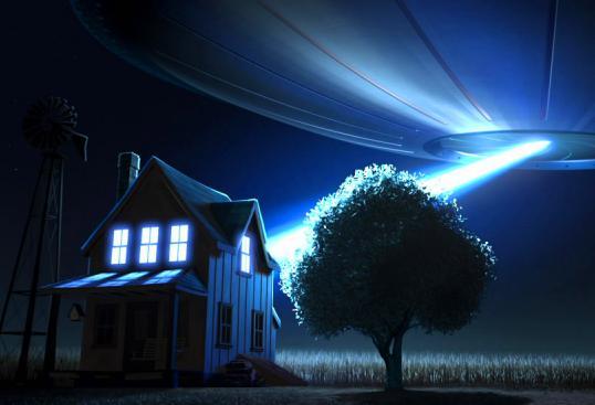 НЛО з'явилося біля будинку