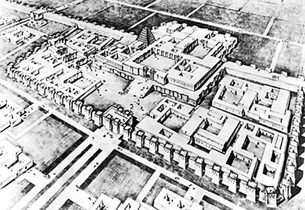 План шумерського храму