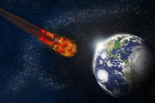 Земля і метеорит