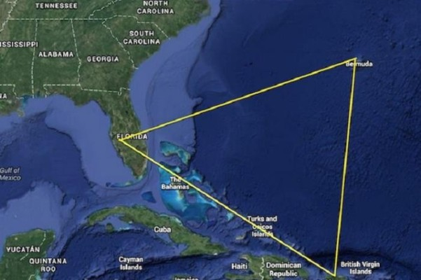 Бермудський трикутник на мапі